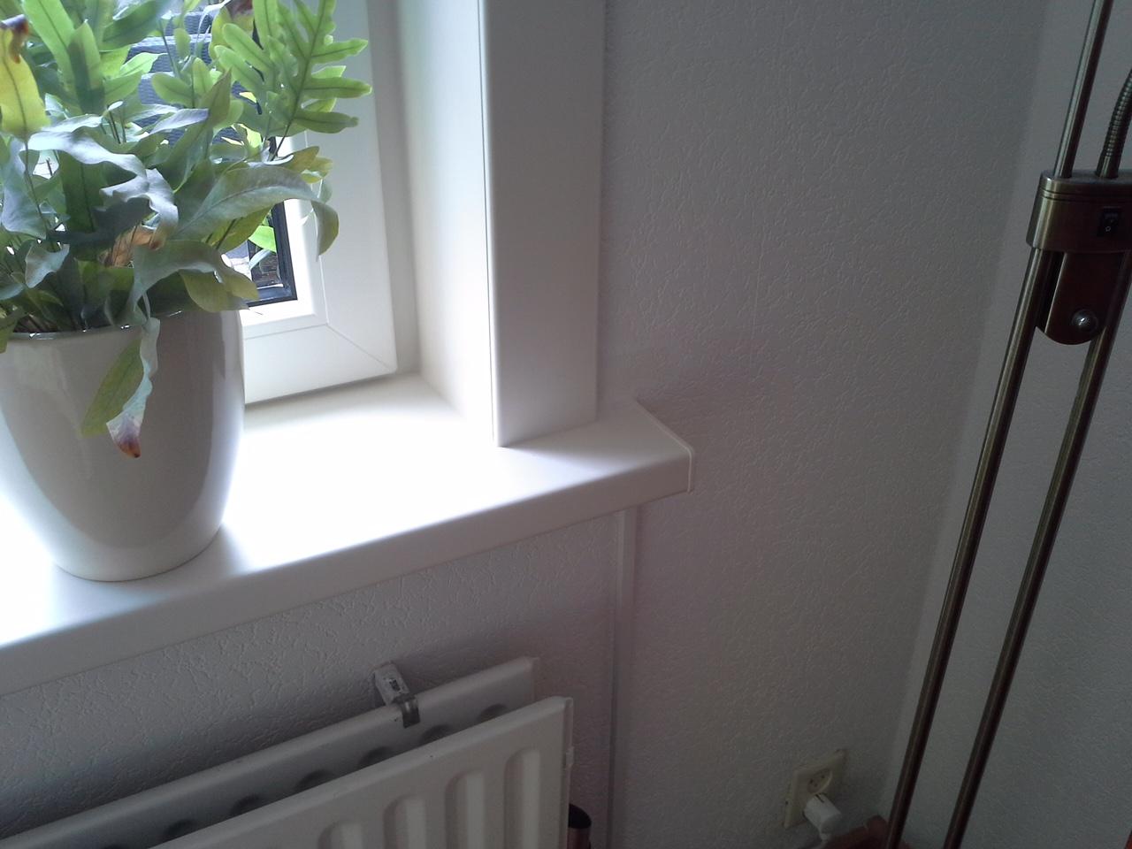 Kunststof kozijn met vensterbank